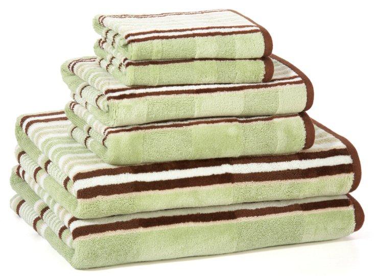 6-Pc Capri Bath Towel Set, Seaglass