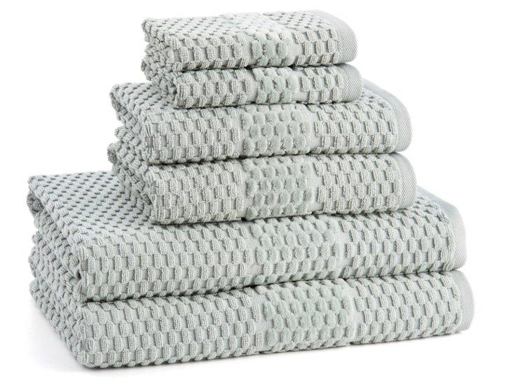 6-Pc San Marco Towel Set, Fern