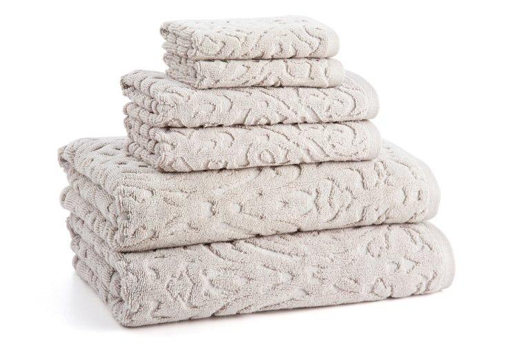 6-Pc Firenze Towel Set, Angora