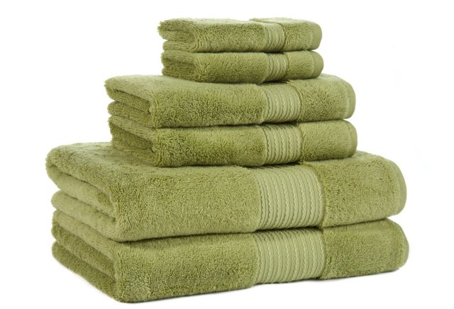 6-Pc KassaSoft Towel Set, Tarragon