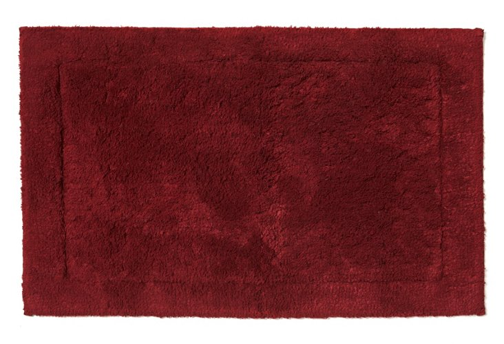 Sublime Bath Rug, Garnet