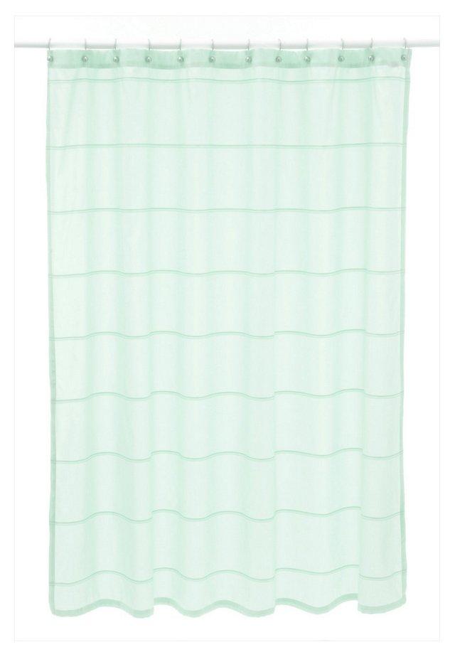 Mar-A-Lago Stripe Shower Curtain, Mist