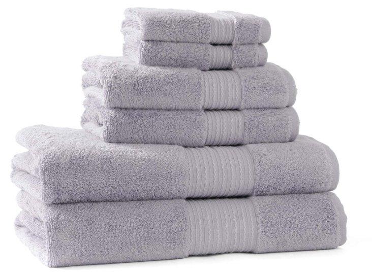 6-Pc KassaSoft Towel Set, Wisteria