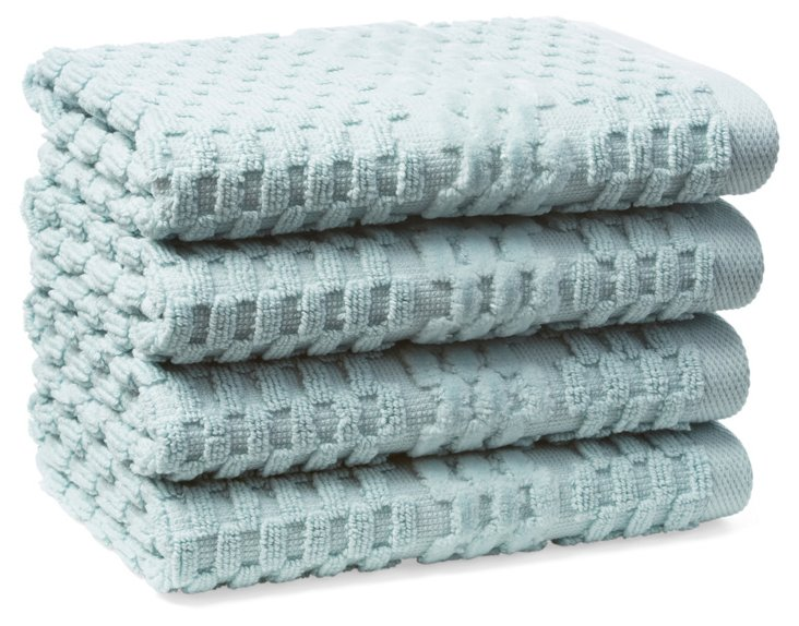 S/4 San Marco Washcloths, Clearwater