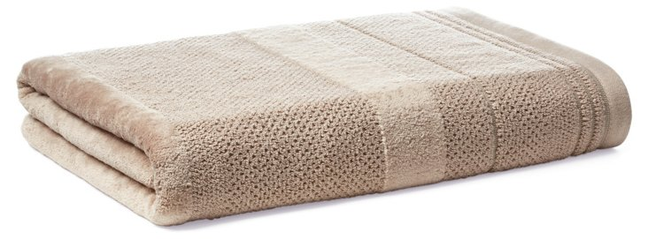 Textures Bath Towel, Taupe