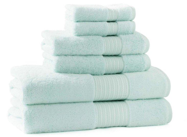 6-Pc KassaSoft Towel Set, Breeze