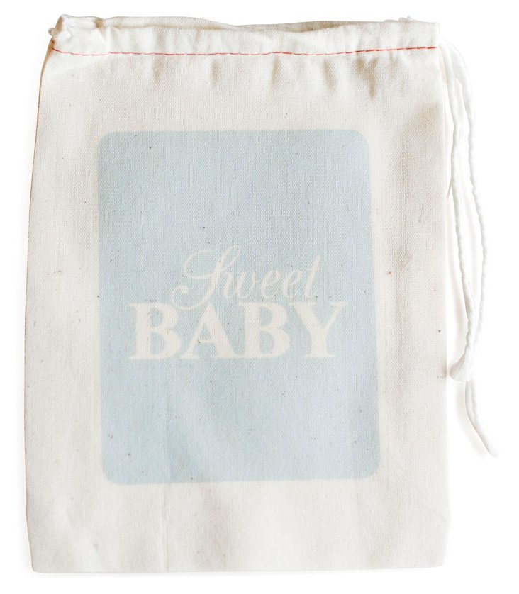 S/6 Sweet Baby Favor Bags, Blue