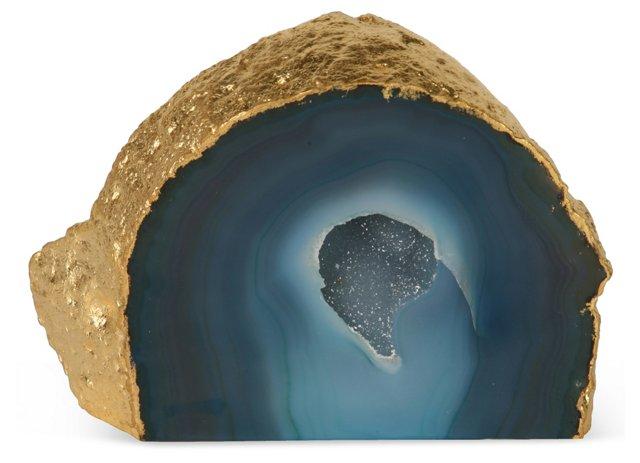 Cobalt Agate Druzy Crystal 24K