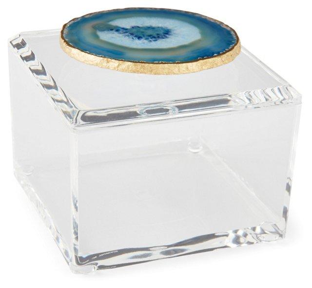 Small Acrylic Box w/ Blue Agate