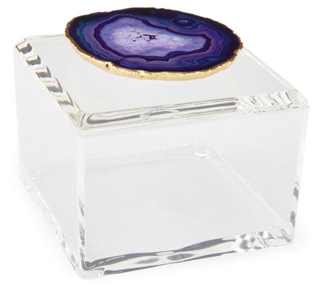 Small Acrylic Box w/ Purple Agate
