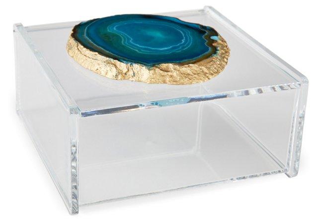Large Acrylic Box w/ Blue Agate