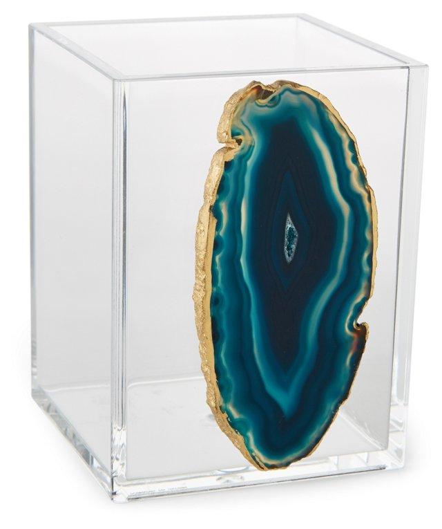 Small Acrylic Vessel w/ Blue Agate