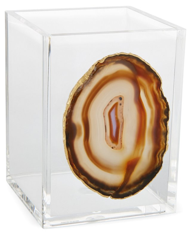 Small Acrylic Vessel w/ Natural Agate
