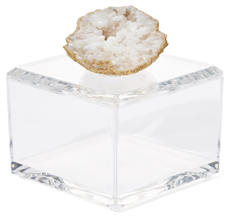 Small Acrylic Box w/ Crystal Geode