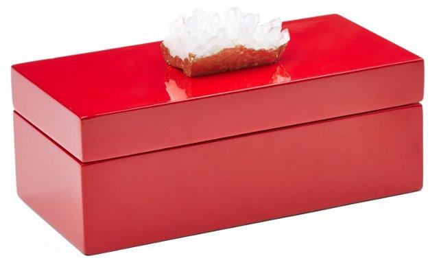 Medium Red Box w/ Himalayan Crystal