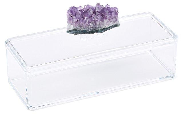 Remote Acrylic Box w/ Amethyst