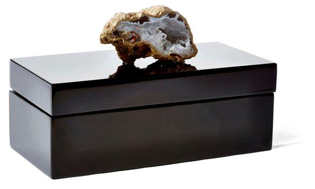 Medium Black Lacquer Box w/ Oco Cluster