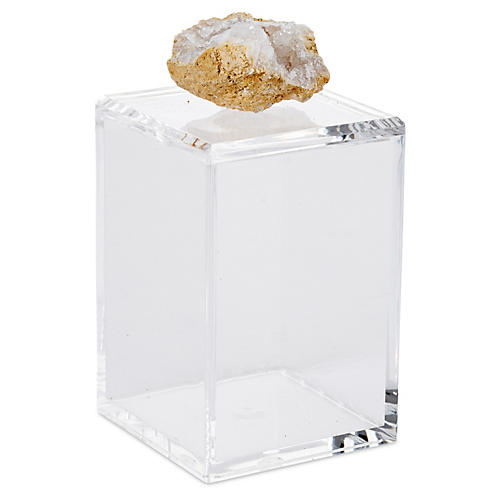 Tall Acrylic Box w/ Crystal Geode Lid