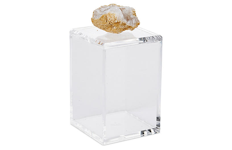 Tall Acrylic Box with Crystal Geode Lid - Mapleton Drive
