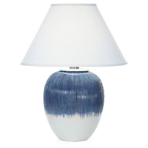Elsa Table Lamp, Matte Blue Ombré