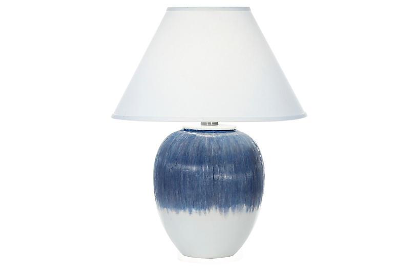 Elsa Table Lamp, Matte Blue Ombré