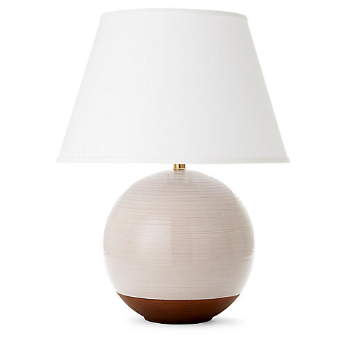 Pomona Table Lamp, Ivory/Terracotta