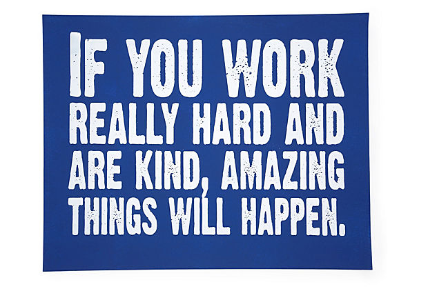 If You Work Hard, Blue