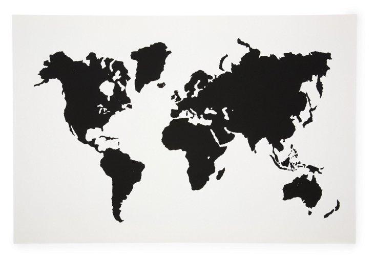 Modern Map, White & Black