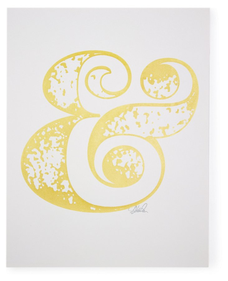 Ampersand Print, Yellow