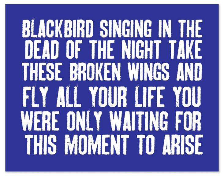Cobalt Blackbird Print