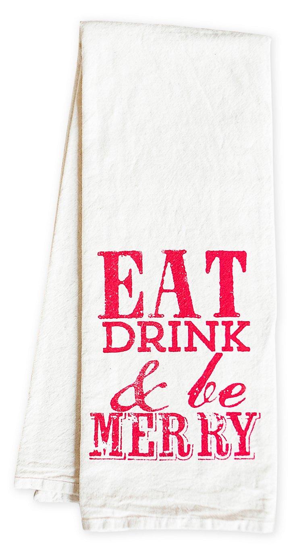 """Be Merry"" Tea Towel, Red"