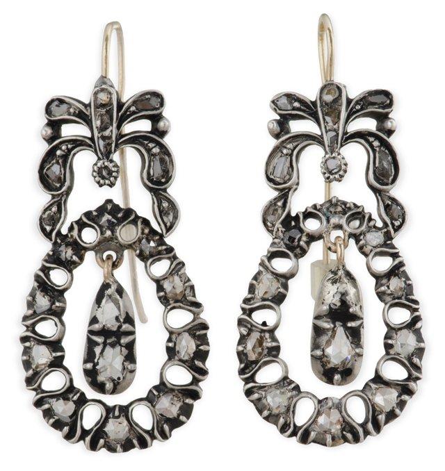 Georgian Rose-Cut Diamond Earrings