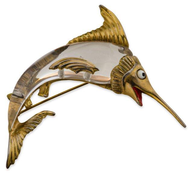 Jelly-Belly Swordfish Brooch