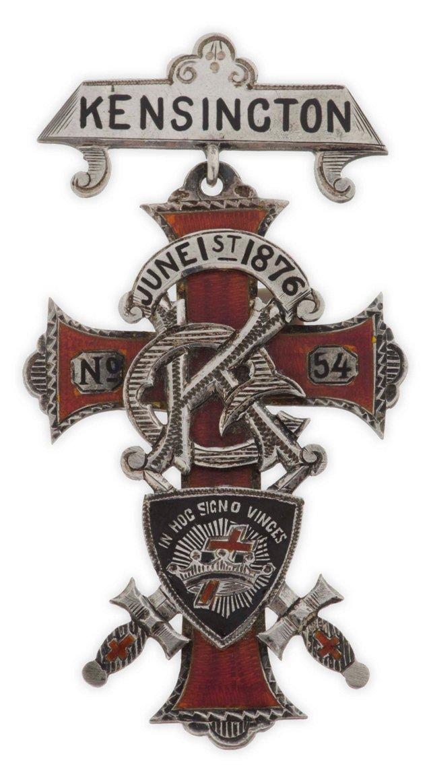 Sterling Silver Fraternal Medal, 1876