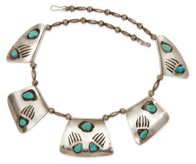 Navajo Sterling Turquoise Necklace