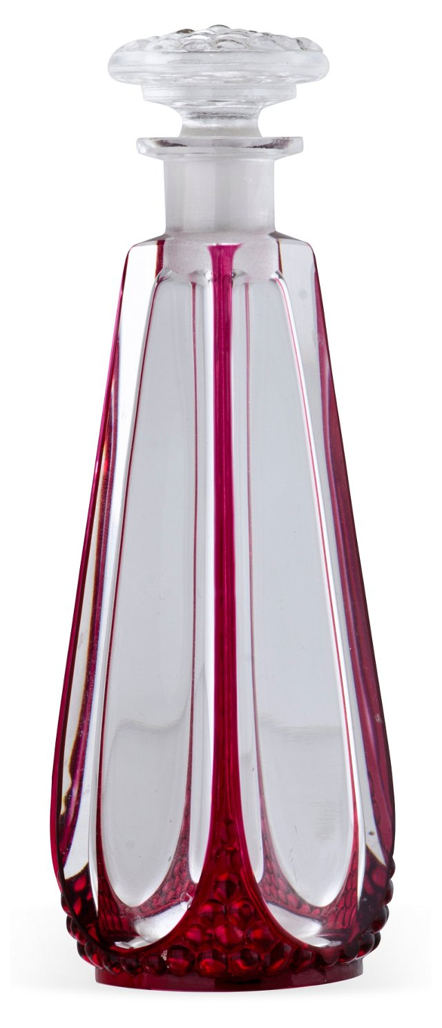 Ruby Flashed Crystal Perfume Bottle