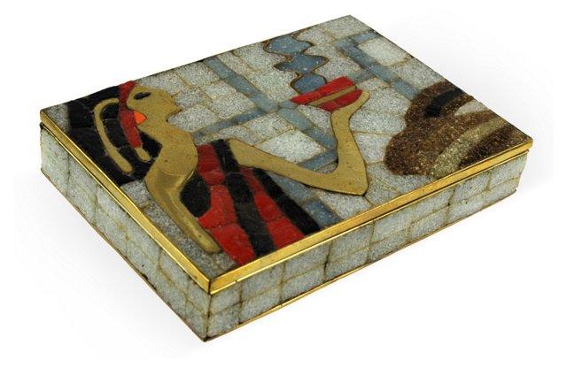 Salvador Teran Brass Mosaic Box I