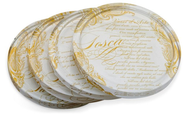 Evening at the Opera Coasters, Set of 4