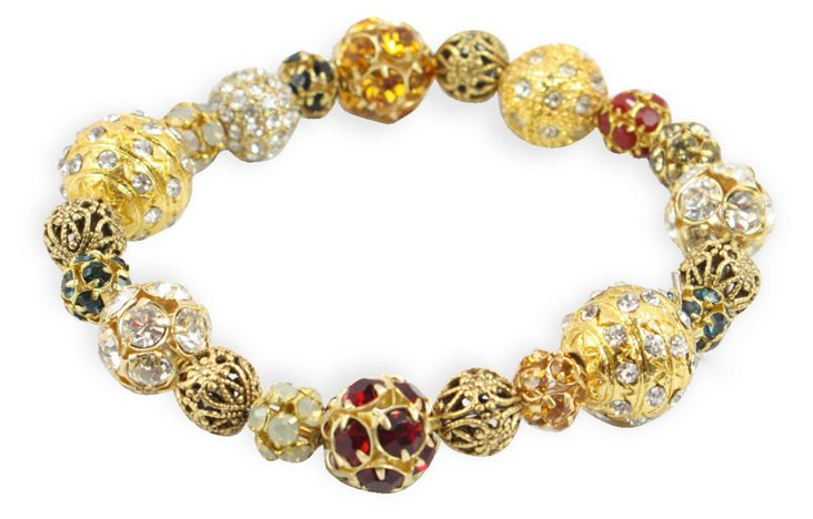 Demure Crystal Stretch Bracelet
