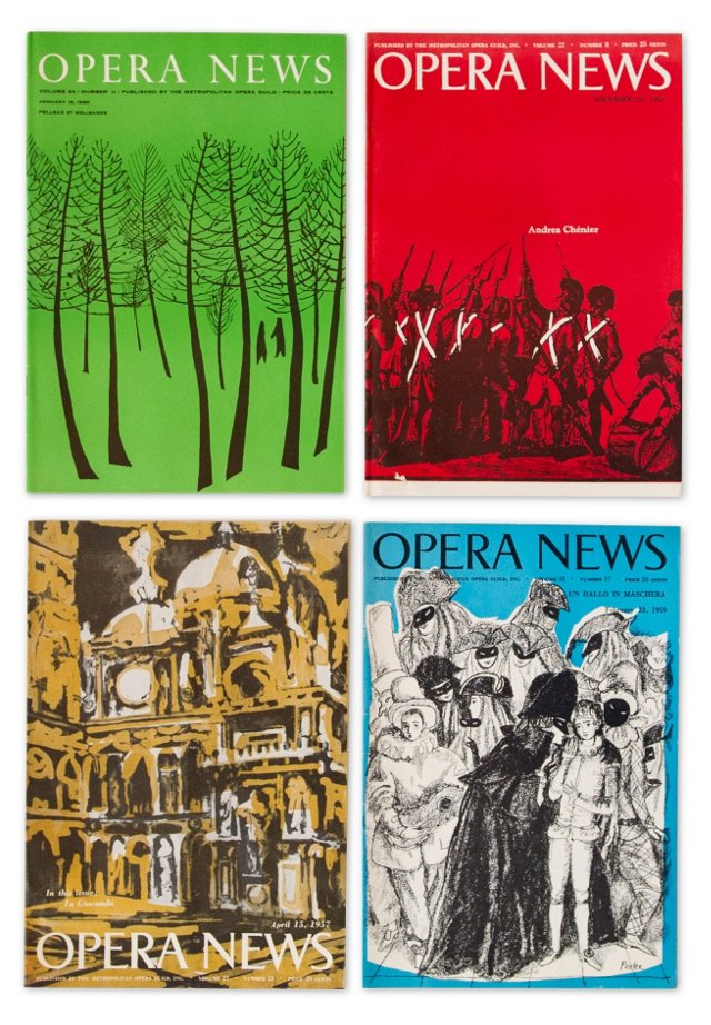 Opera News Collection, Set of 4, II
