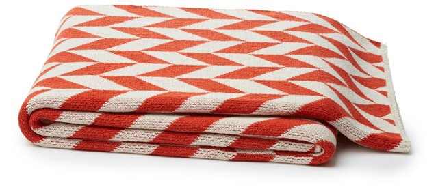 Carter Cotton-Blended Throw, Spice