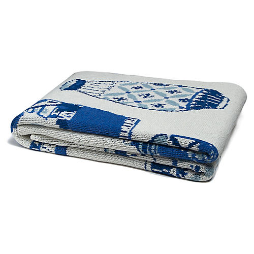 Eco Delft Throw, Blue