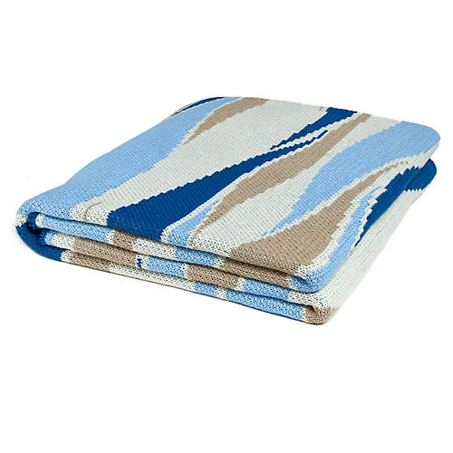 Breakers Outdoor Throw, Royal Blue