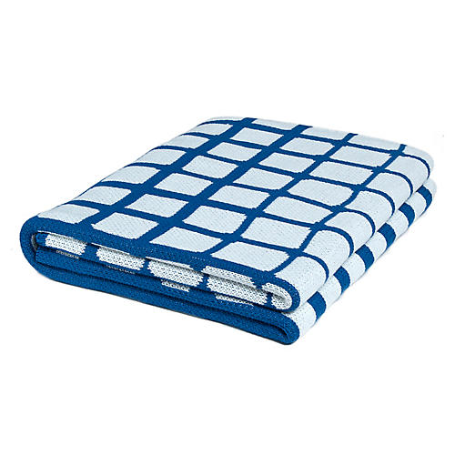 Waterline Outdoor Throw, Royal Blue