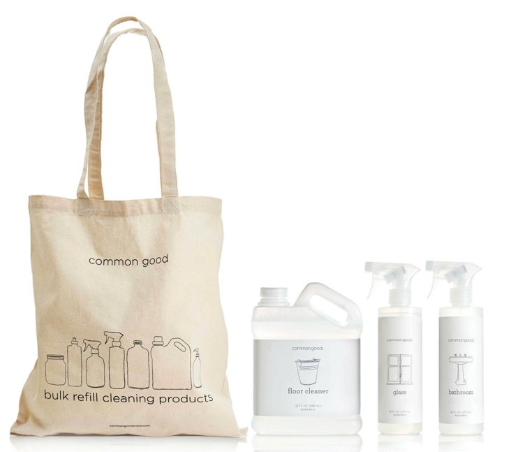 S/3 Plant-Based Cleaning Set, Clear