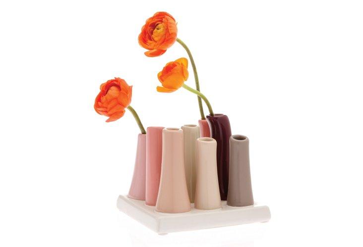 Square Pooley Vase, Pink/Multi