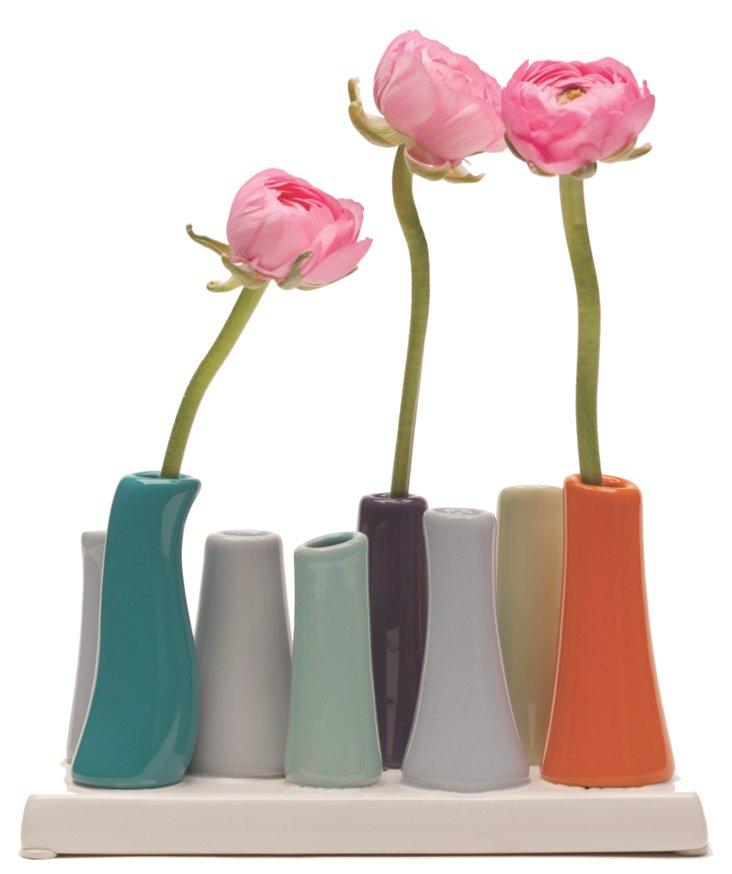 8-Hole Pooley Vase, Multi