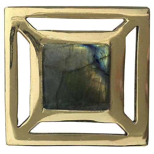 Evans Pull, Brass/Labradorite