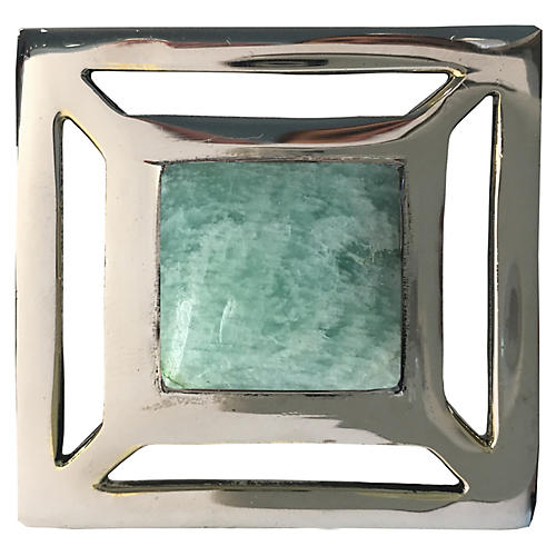 Evans Pull, Nickel/Amazonite