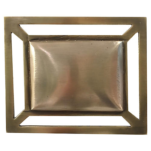 Downing Pull, Antiqued Brass